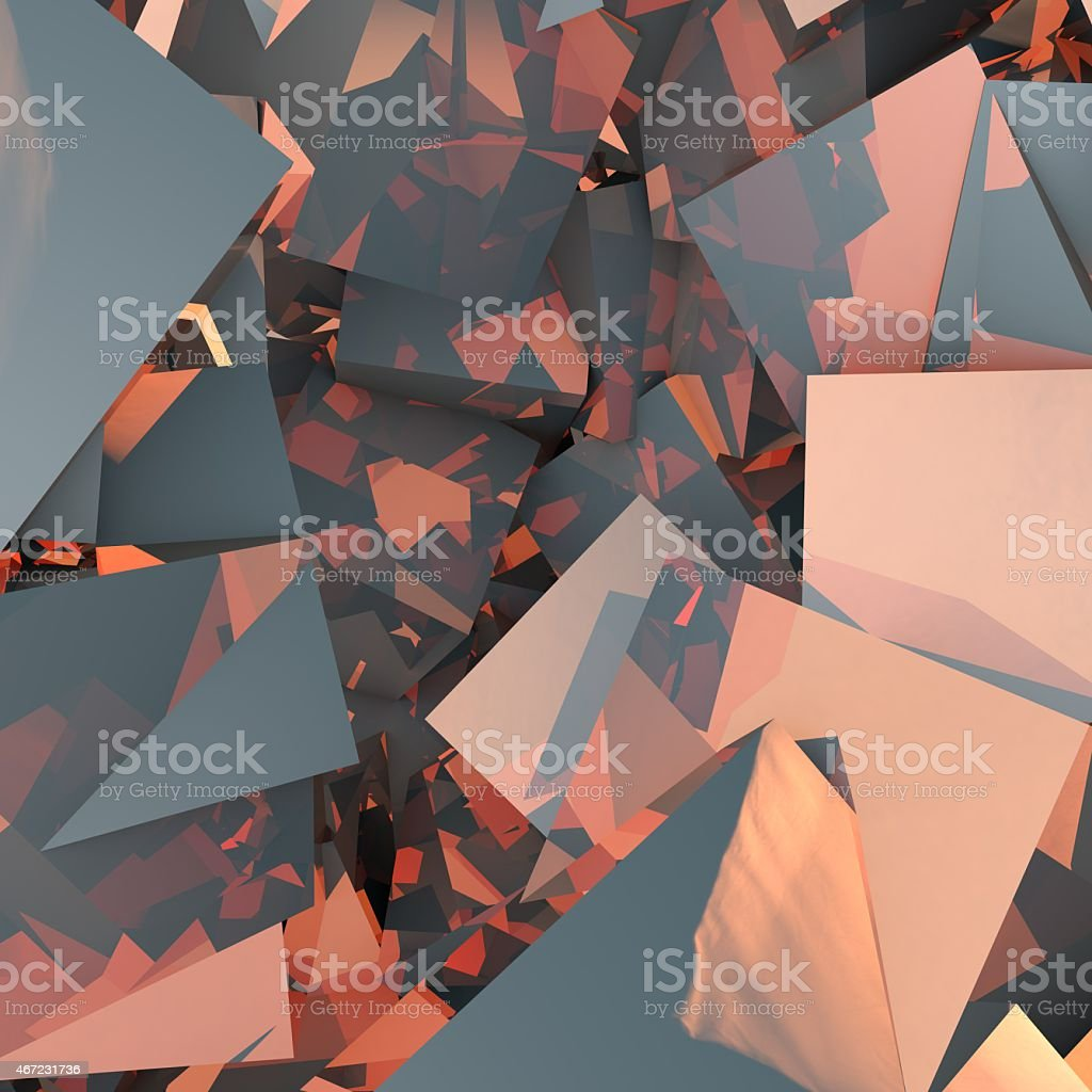 abstract background consisting of geometric shapes stock photo