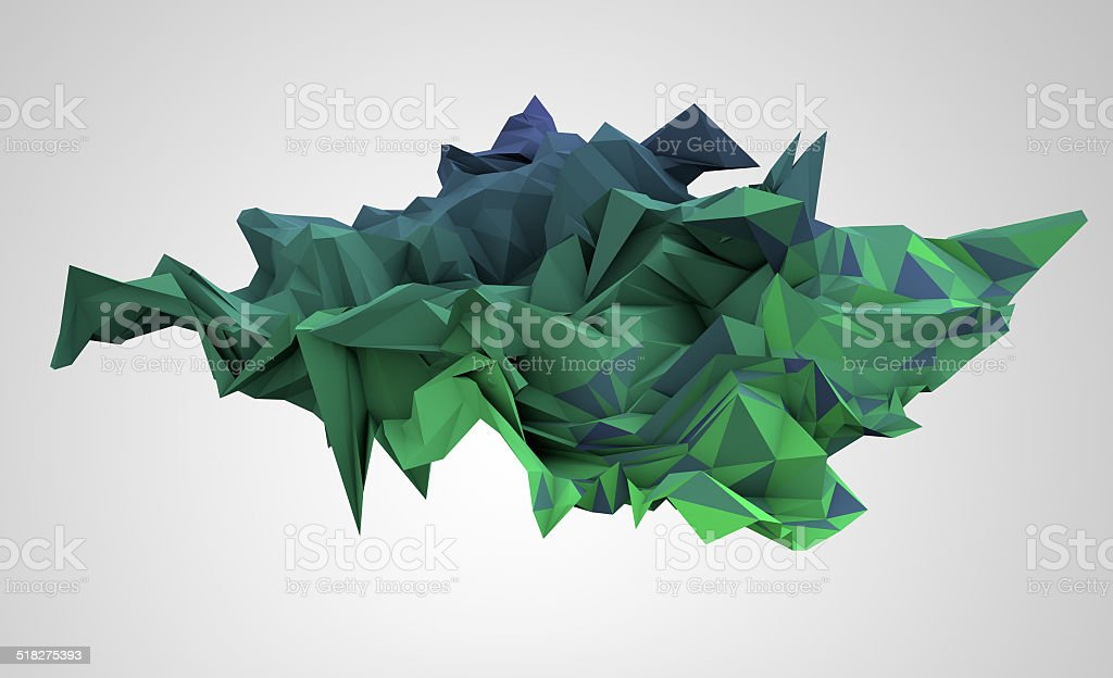 abstract background consisting of triangles stock photo