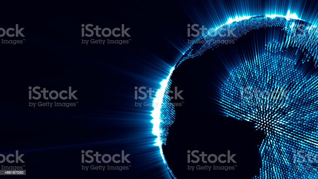 abstract background - exploding Earth stock photo