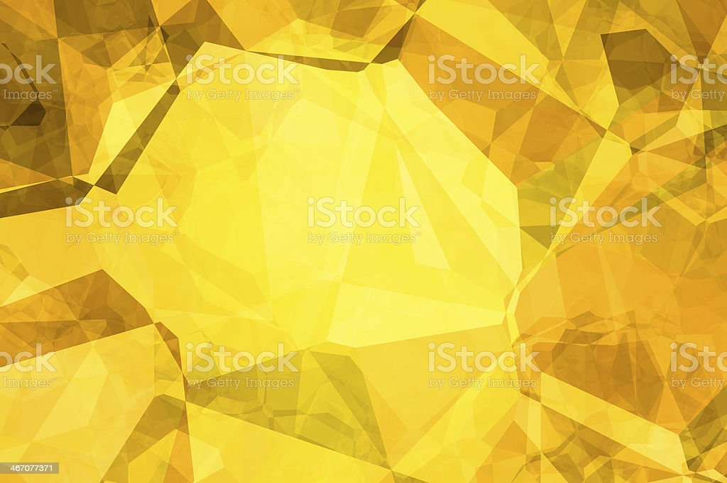 Abstract background - golden crumpled paper. stock photo