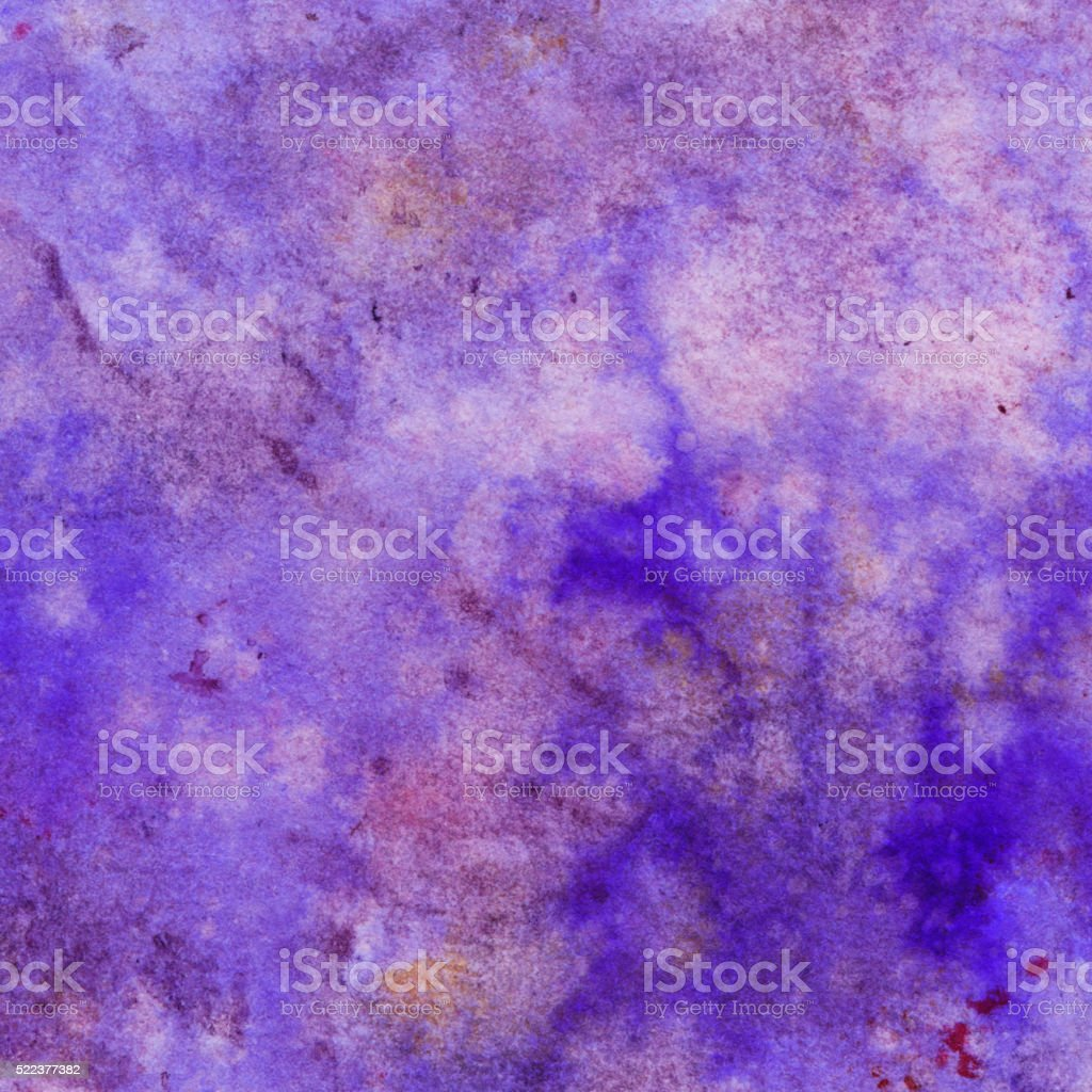 Abstract background hand painted with shades of purple vector art illustration