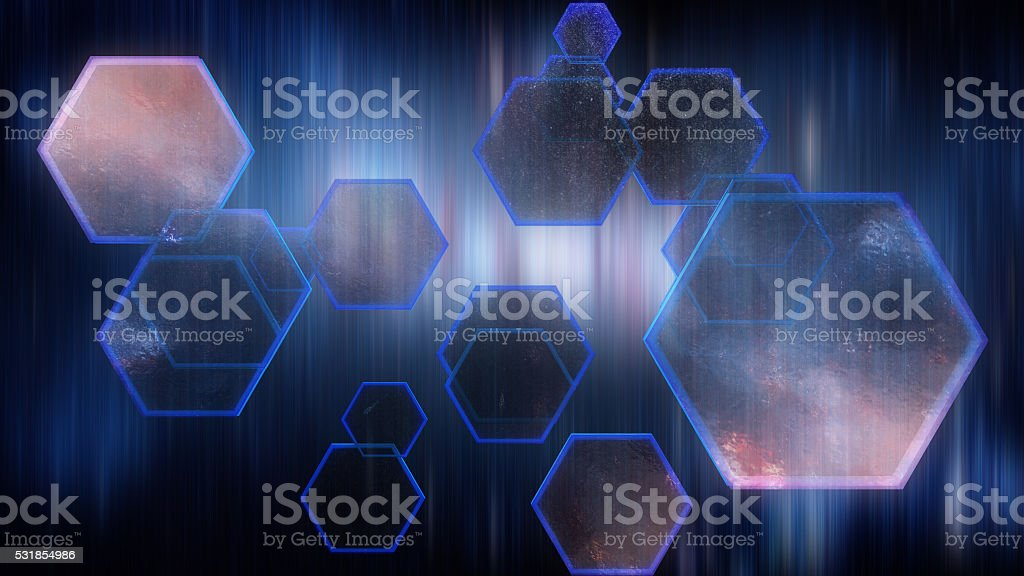 Abstract background, Hexagon digital looks royalty-free stock photo