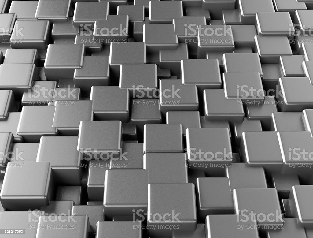 Abstract background made of 3d cubes stock photo