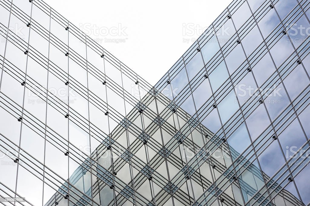 Abstract background, modern skyscrapers, copy space stock photo