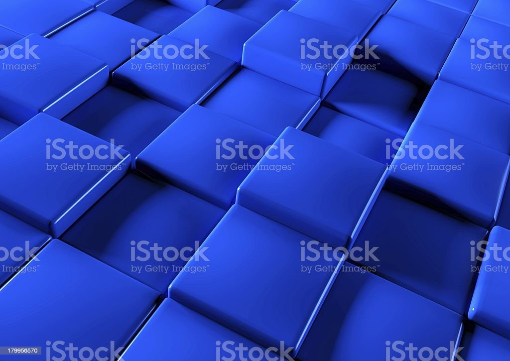 Abstract background of 3d blocks royalty-free stock photo