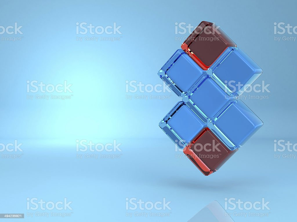 Abstract background of 3d blocks stock photo