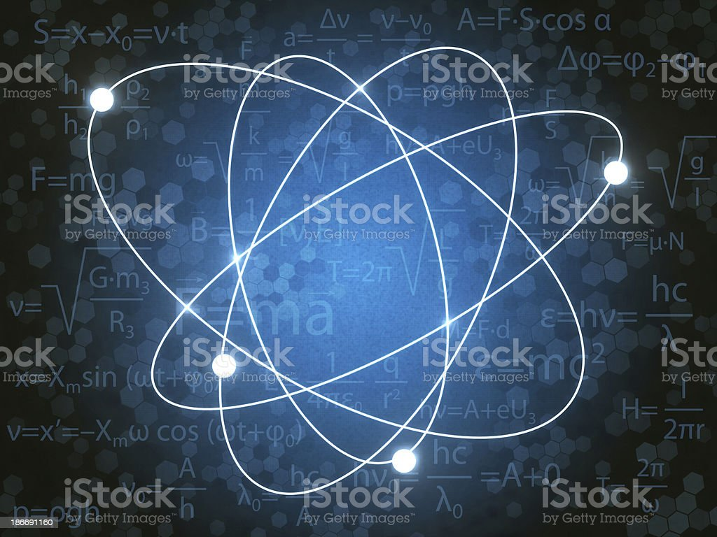 A abstract background of a proton stock photo