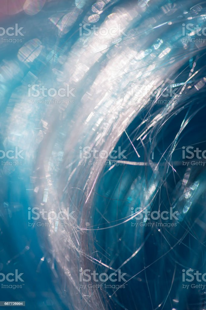 Abstract background of blue hairs stock photo