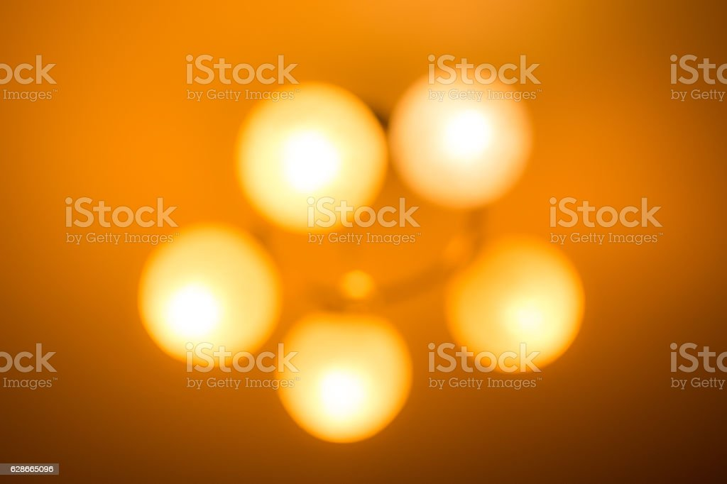 Abstract background of blurry ceiling lamp royalty-free stock photo