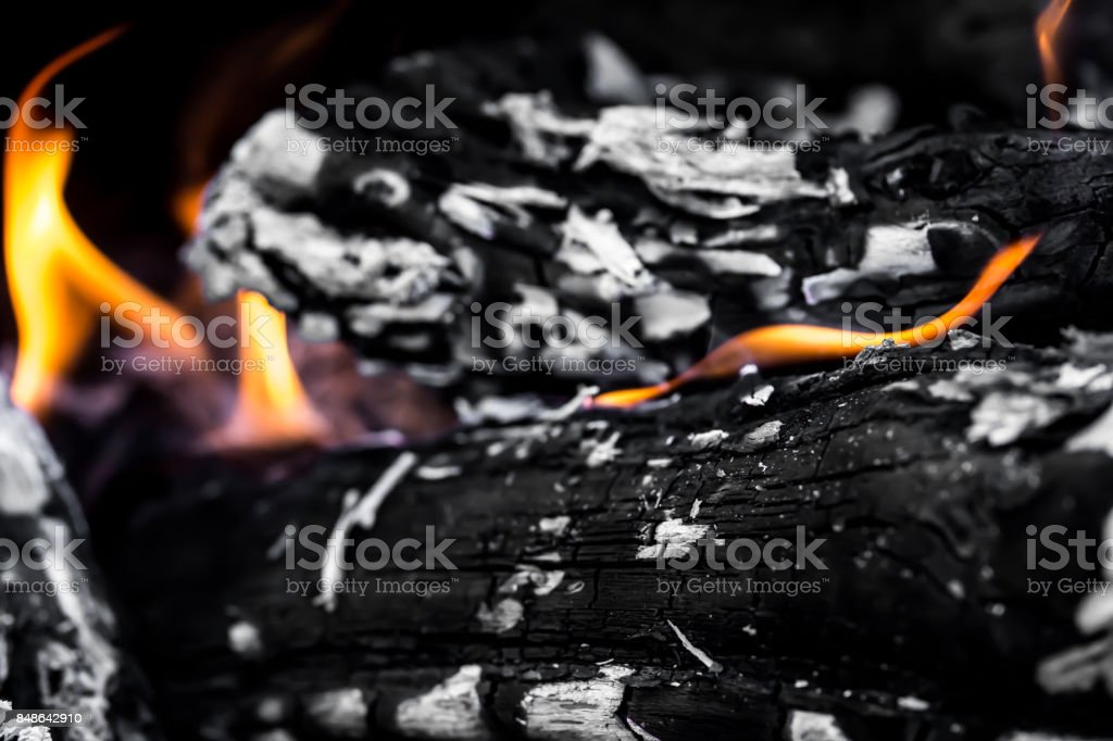 abstract background of burning coals stock photo