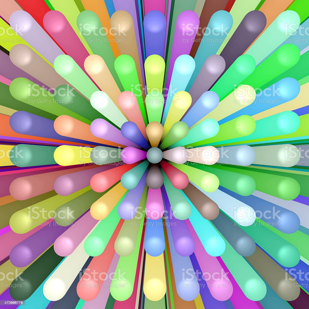 abstract background of colorful tubes vector art illustration