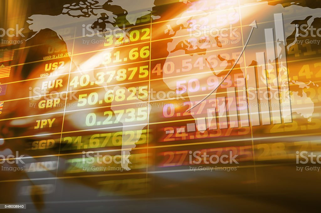 Abstract background of currency exchange stock photo