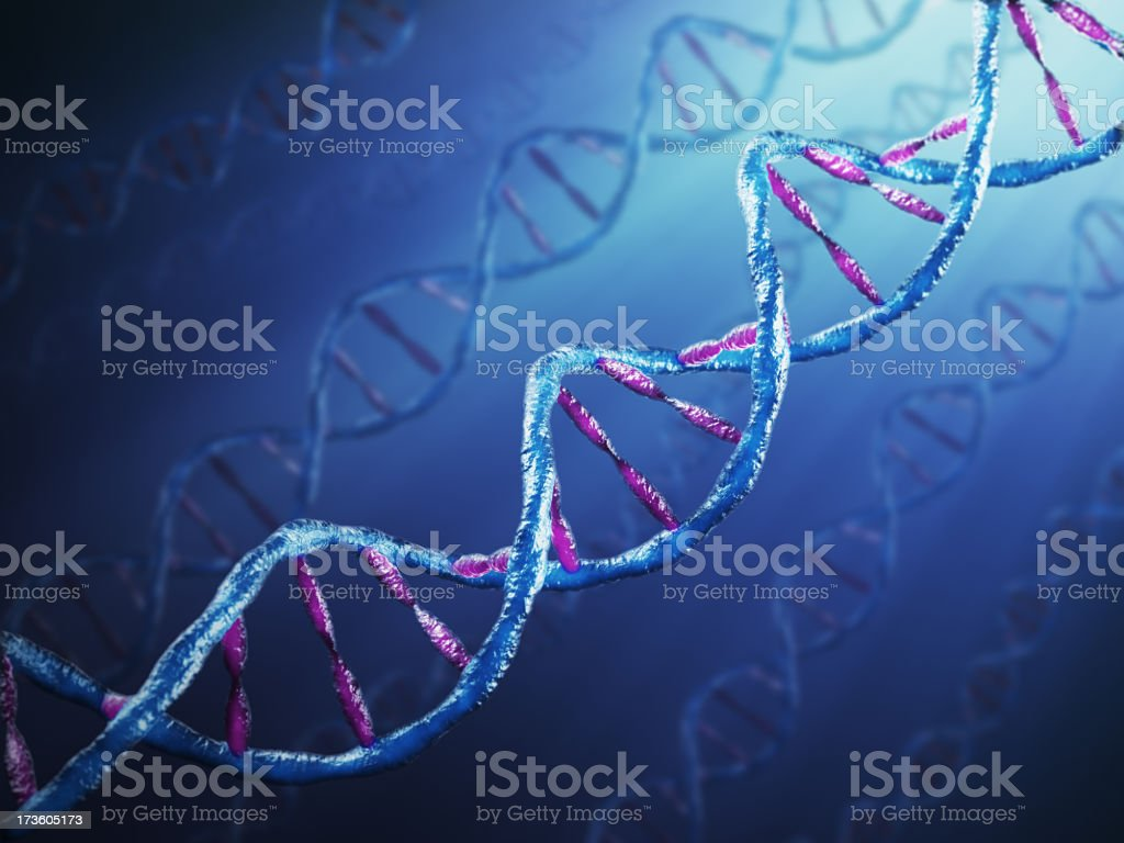 Abstract background of DNA strands royalty-free stock photo