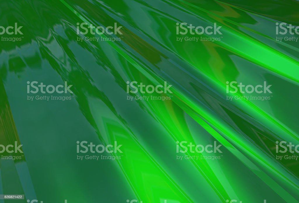 Abstract background of green glossy floating waves stock photo
