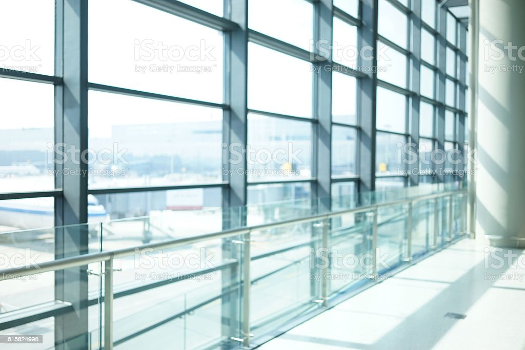 abstract background of indoor space behind glass wall stock photo