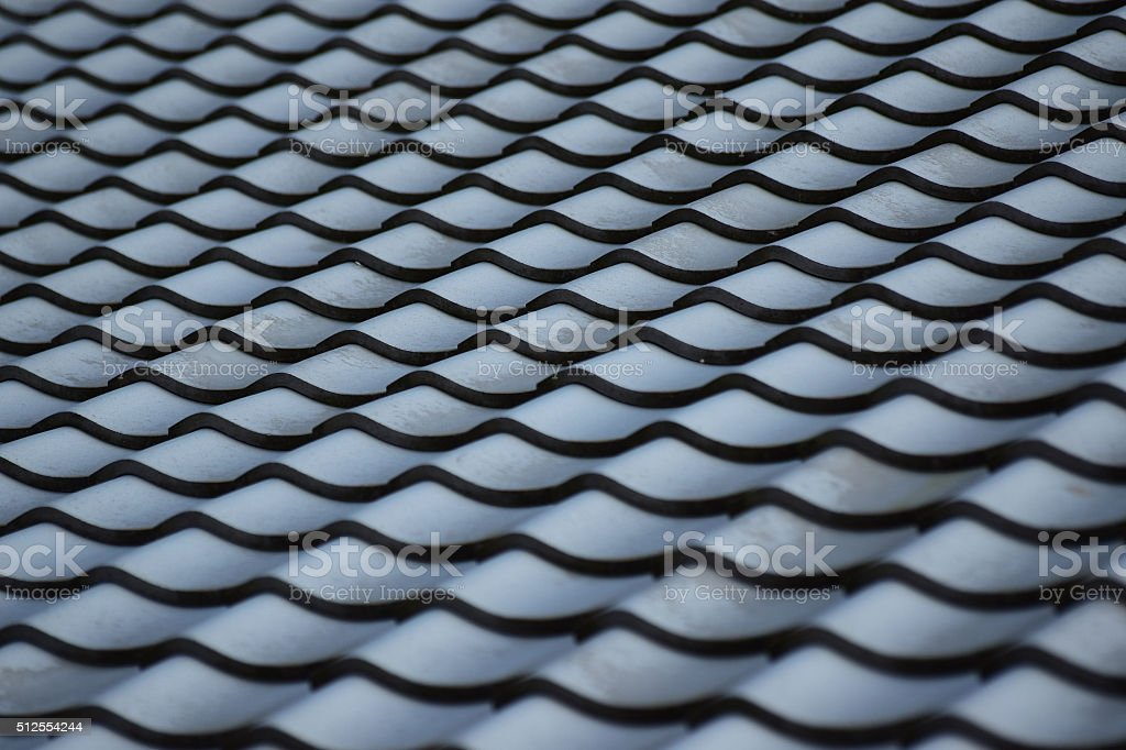 Abstract Background of Japan Traditional House Rooftop stock photo