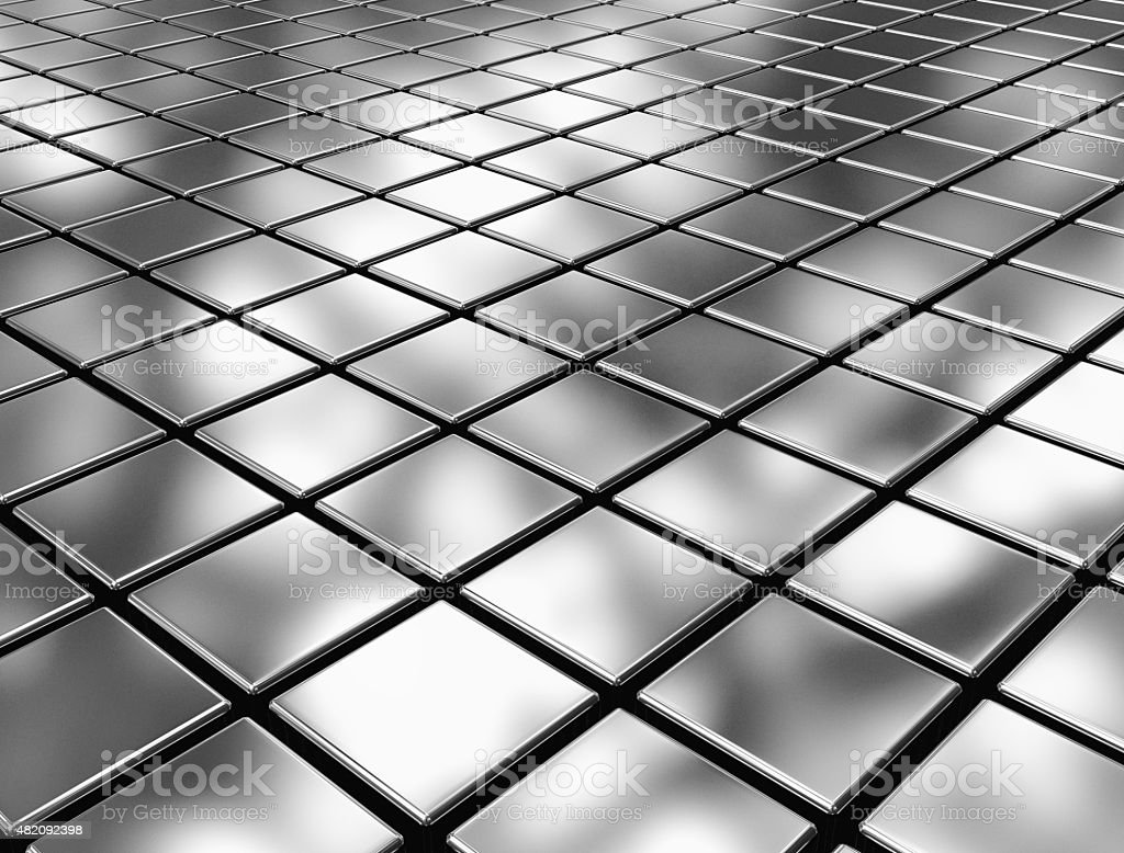 Abstract background of metal 3d blocks stock photo