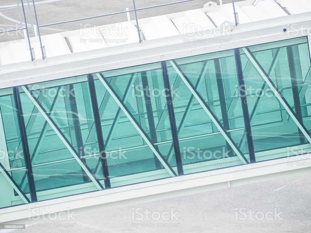 Abstract background of part of jetway stock photo