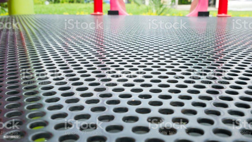 Abstrakt Hintergrund der perforierten Metall Lizenzfreies stock-foto