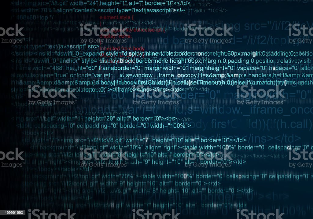 Abstract Background of program web code stock photo