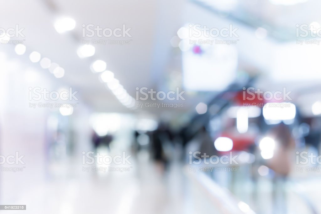 Abstract background of shopping mall on Hong Kong stock photo
