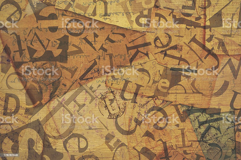 abstract background of the letters royalty-free stock photo