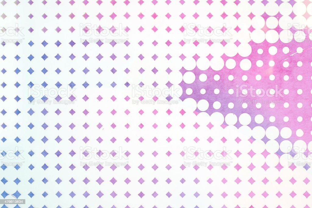 abstract background - pink pop dots on textured colored paper stock photo