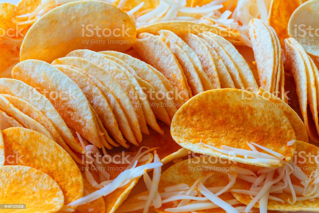 abstract background potato chips food texture stock photo