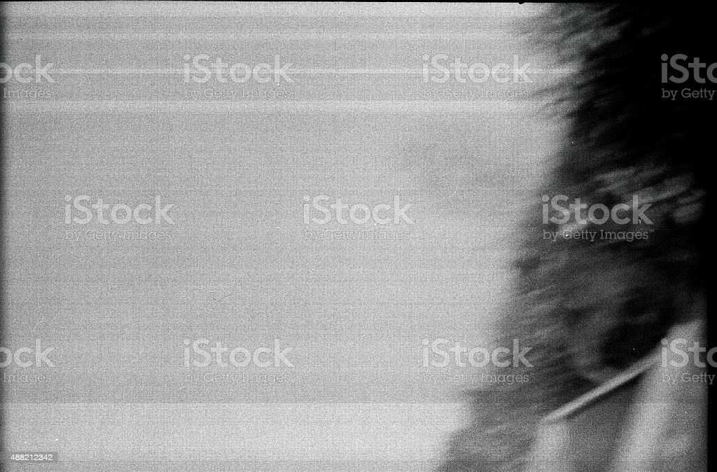 Abstract background scan a black-and-white film. stock photo