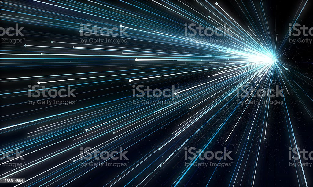 Abstract background simulating an explosion in space stock photo