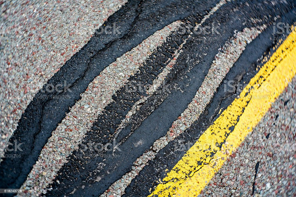 Abstract background: the asphalt road's surface with repare's lines stock photo