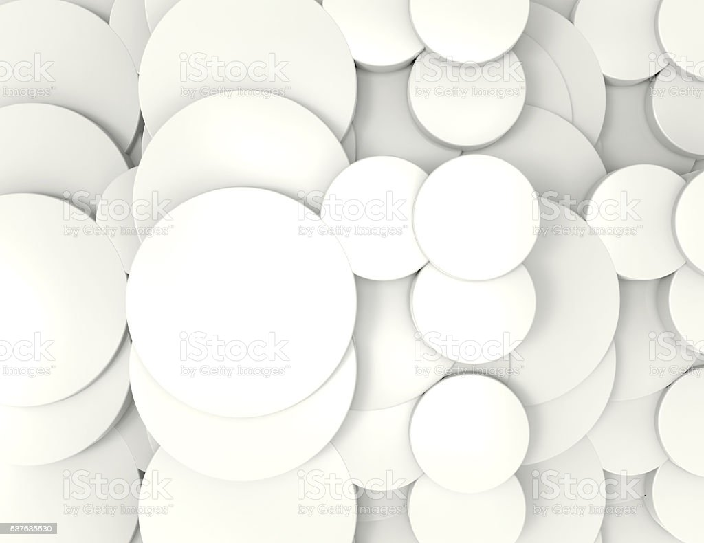abstract background white circles 3d render stock photo