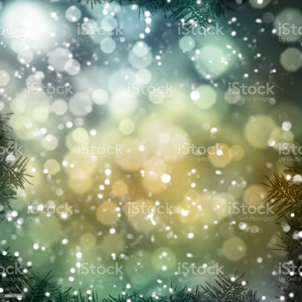 Abstract background winter season stock photo