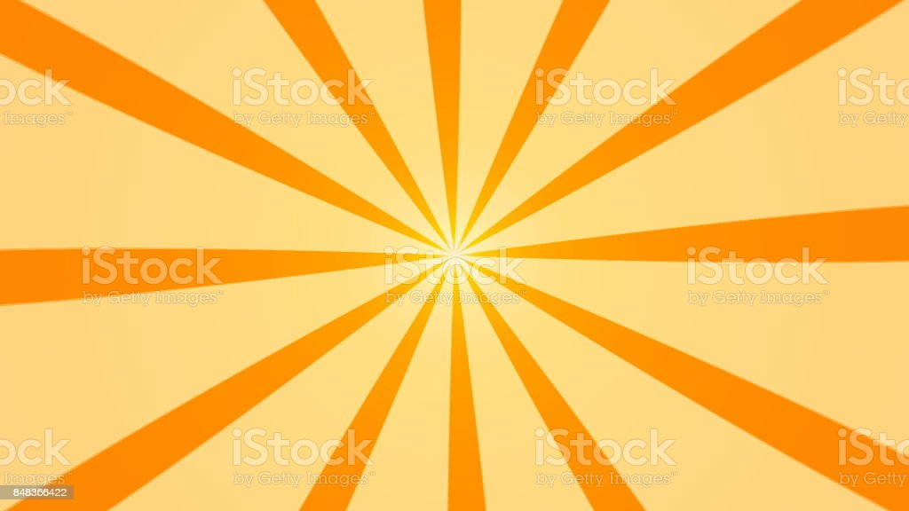Abstract background with animation of sun beams. Retro radial background. 3d rendering stock photo