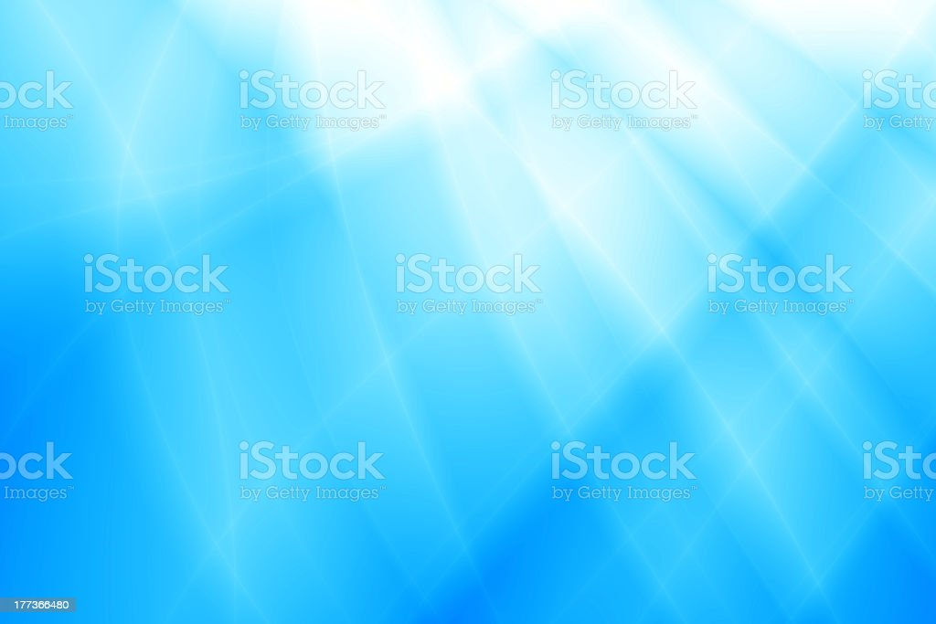 Abstract background with blue ocean wave design vector art illustration