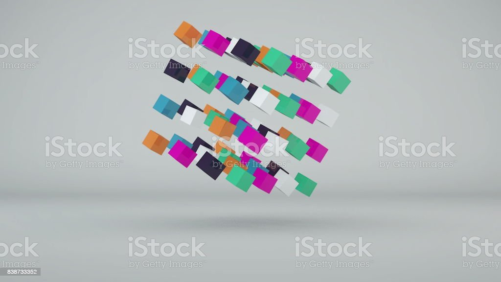 Abstract background with colorful cubes stock photo