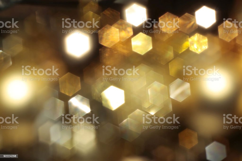 Abstract background with gold blured lights royalty-free stock photo
