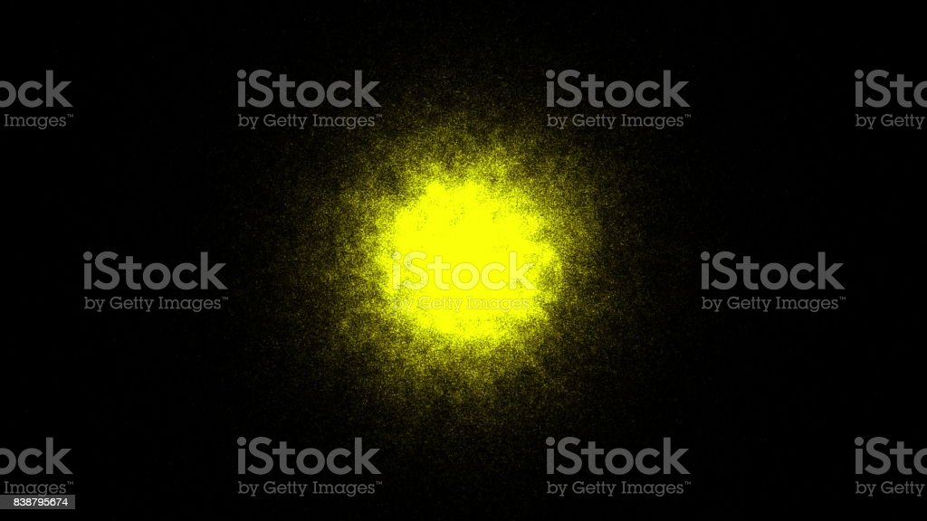 Abstract background with gold sphere. Sand effect stock photo