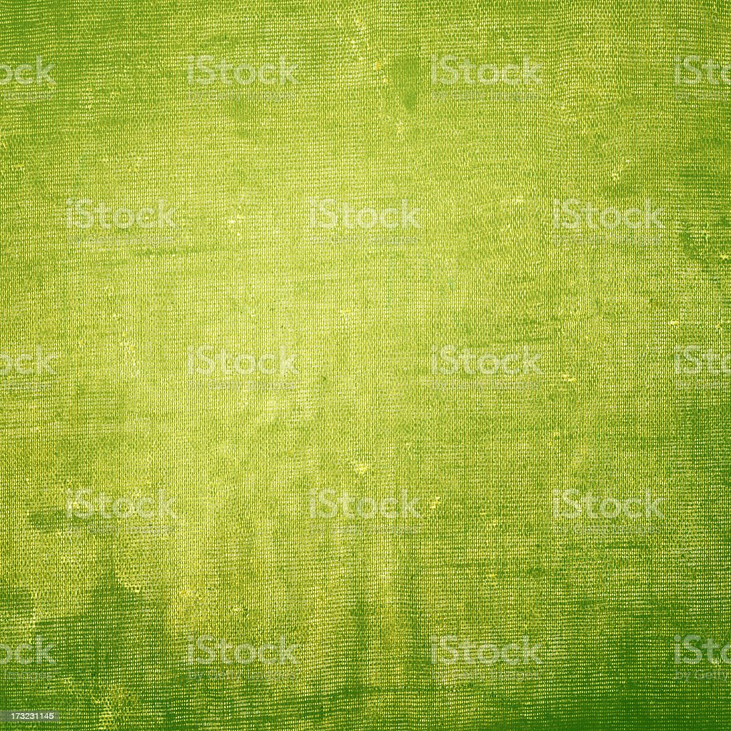 Abstract background with green canvas texture stock photo