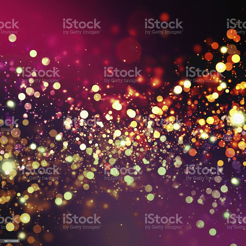 Abstract background with multicolored lights stock photo