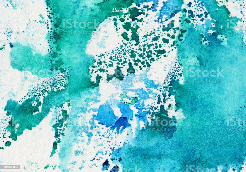 Abstract background with shades of green and blue stock photo