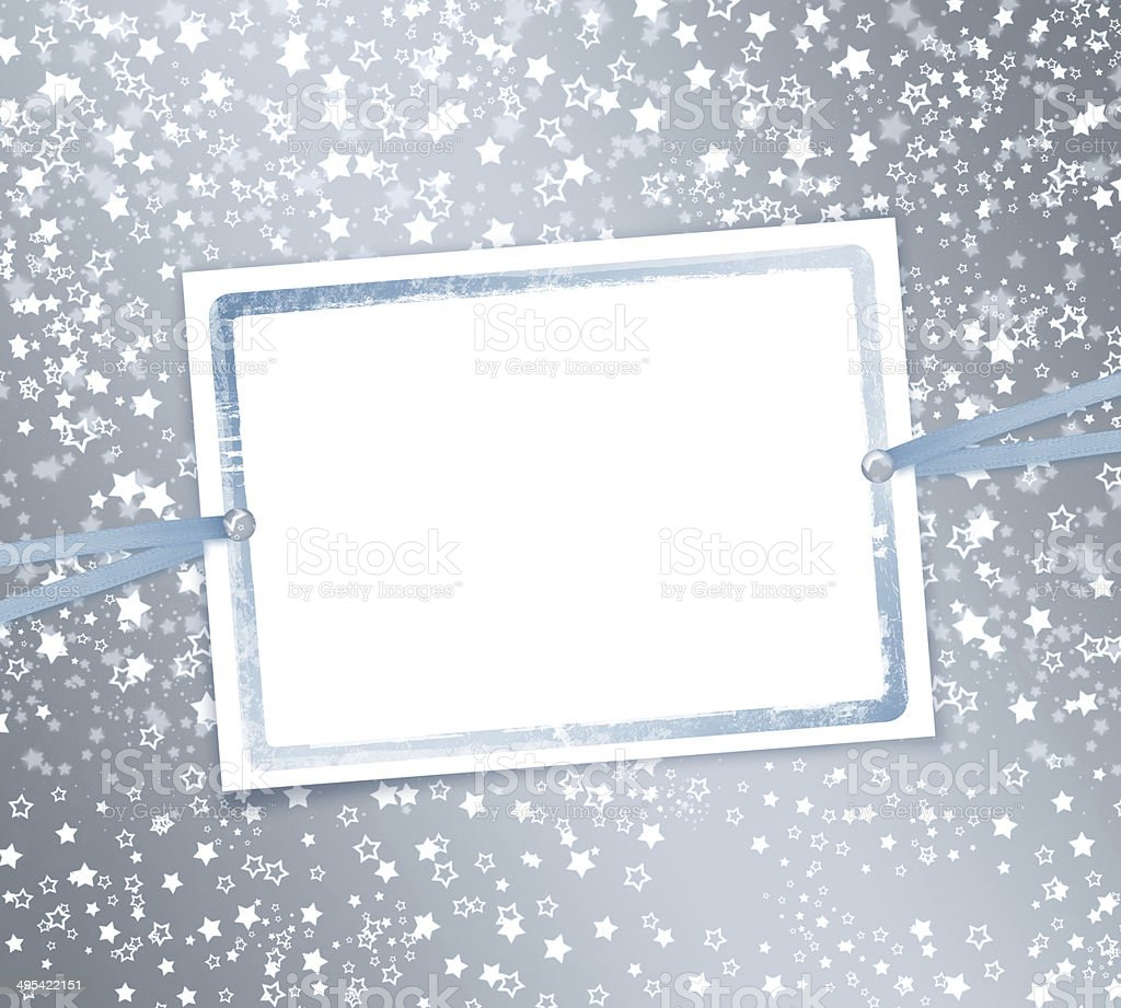 Abstract background with snowflakes, stars and blur boke stock photo