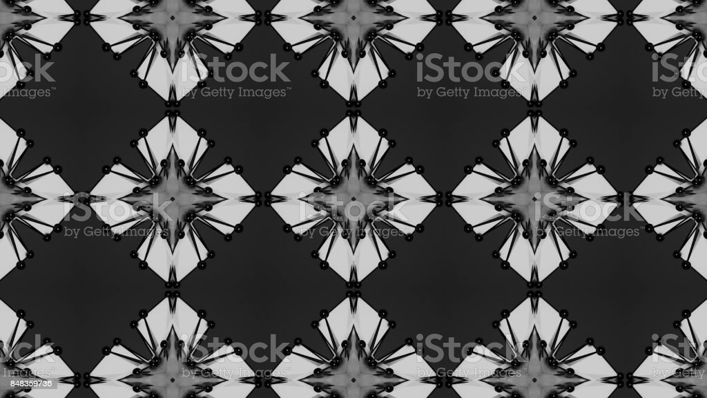 Abstract background with technology kaleidoscope stock photo