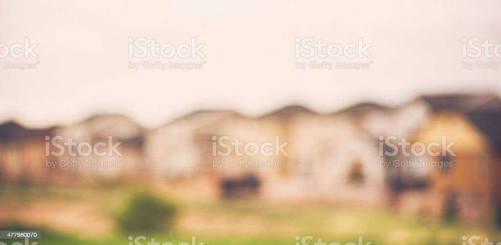 Abstract Backgrounds. Defocused row of houses. stock photo