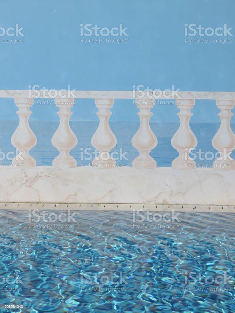 Abstract Balcony stock photo