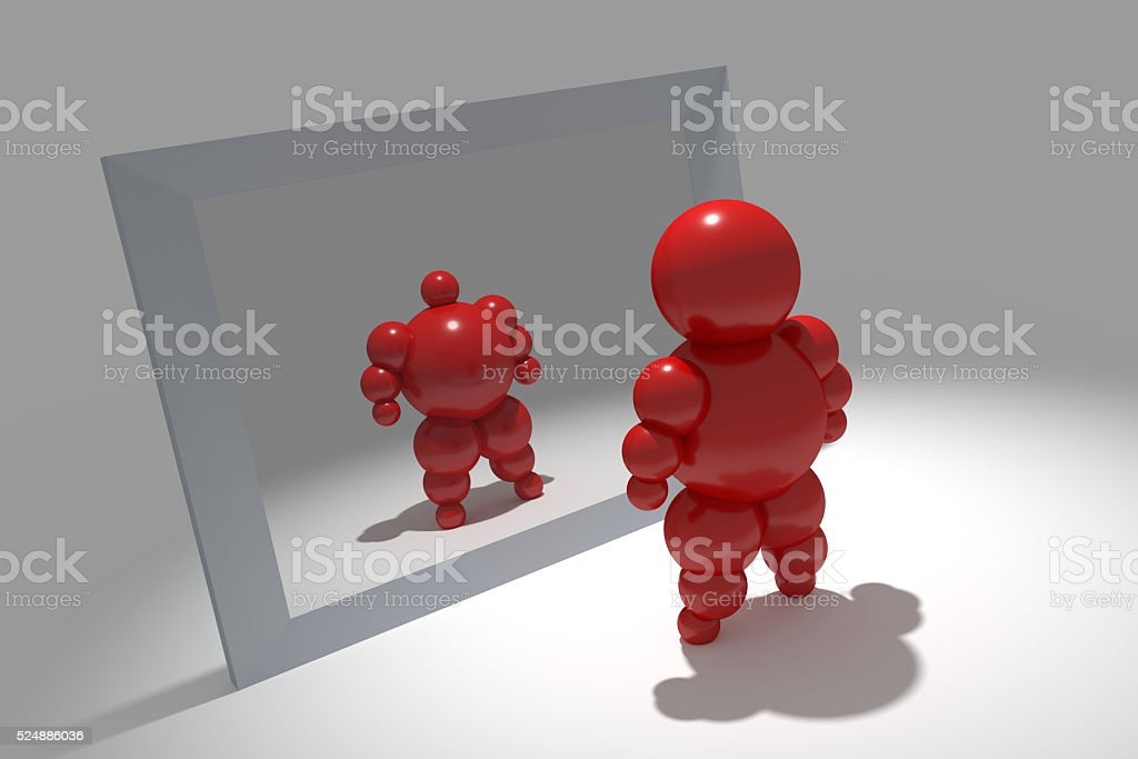 3D abstract 'Ballman' character stock photo
