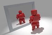 3D abstract 'Ballman' character