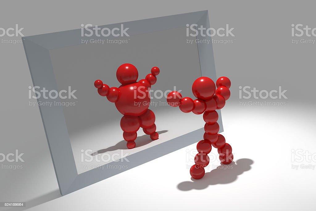 3D abstract 'Ballman' characters stock photo