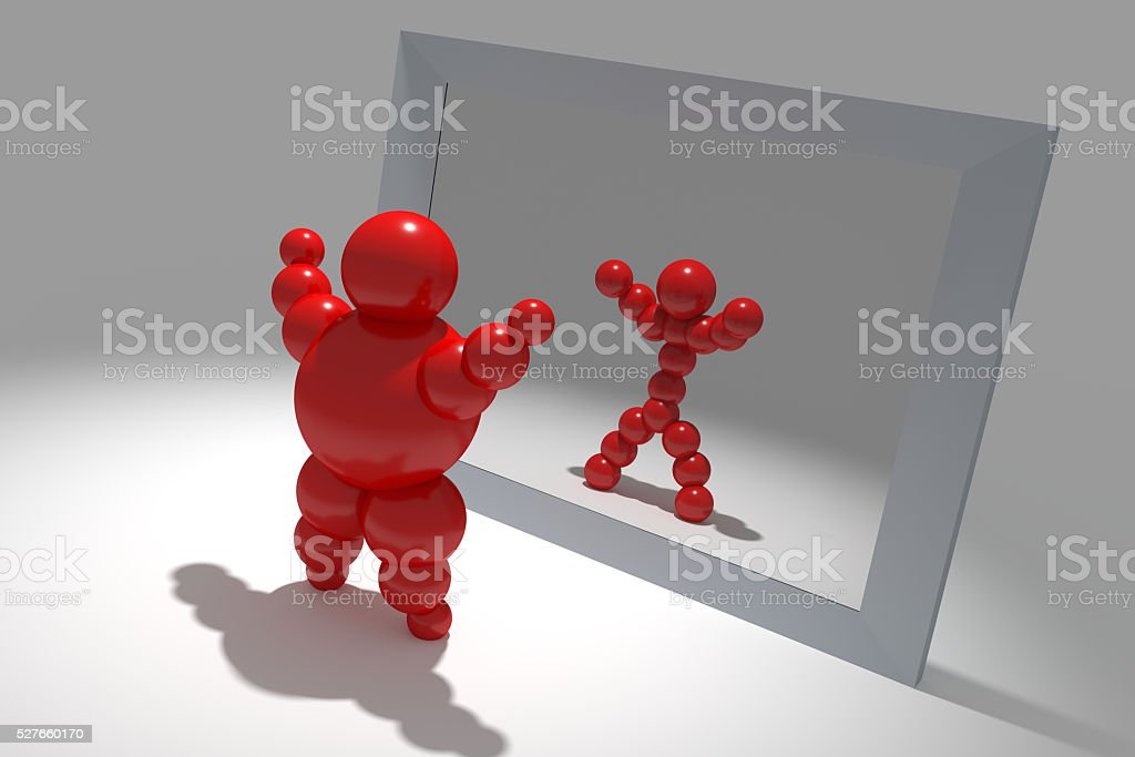 3D abstract 'Ballman' characters stock photo
