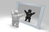 3D abstract 'Ballman' characters